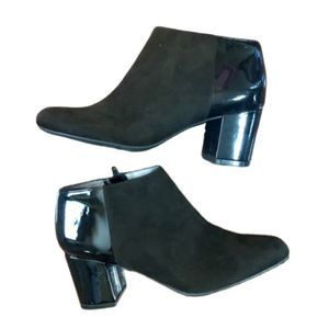Life Stride Faux Suede & Leather Booties - NEW!